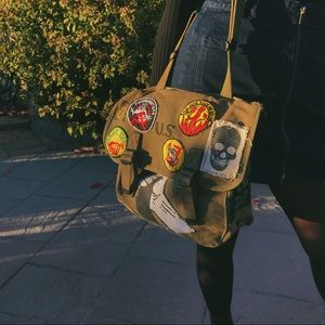 VTG 1942 Ammo Bag w/ VTG & Recycled Patches